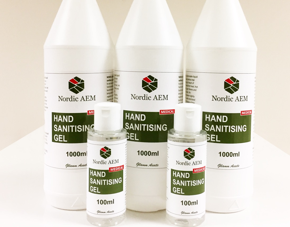Hand sanitiser 80% medical
